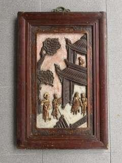 Old Wood carving Hanging Panel 老木雕挂屏