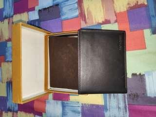 Authentic 💯 %! Samsonite Billfold Wallet/dompet kulit dark brown BARU