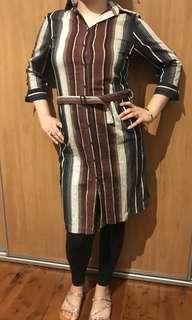 Women's Zambelli Donna stripe shirt dress size 14
