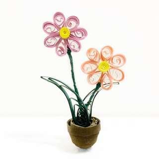 🚚 Quilling Flower Pot
