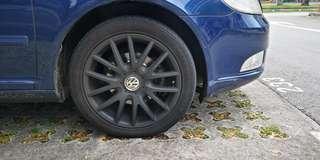 5x112 Rims + Tyres 225/45R17 Volkwagen 5 x 112