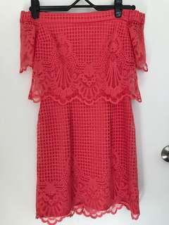 Top shop off-shoulder dress