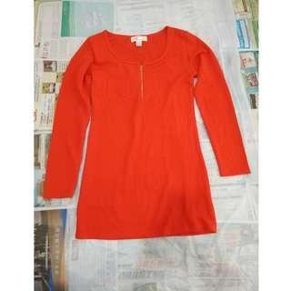 紅色厚身女裝裙