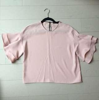 Zara Ruffled Sleeves Top