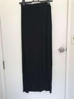 Side split maxi skirt(black)