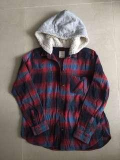 American 🦅 Outfitters Shirt with hoodie 有帽恤衫 (包郵)