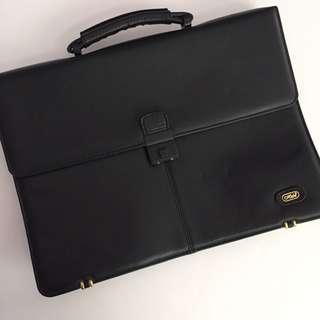 Black Leather (genuine) Briefcase