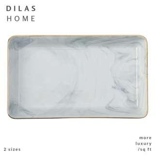 DILAS HOME | Marble Rectangle Plate Jewellery Organiser Tray