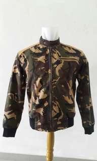Jaket Army kombinasi kulit