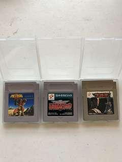Contra and Metroid Gameboy Games Japan