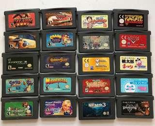 Gameboy advance games bootlegs and some authentic.