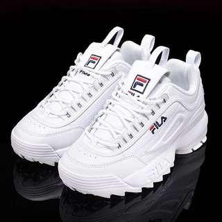 [CHEAPEST!] White Fila Disruptors