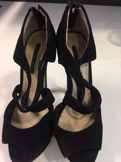 Tony bianco sz 5.5 black suede heels