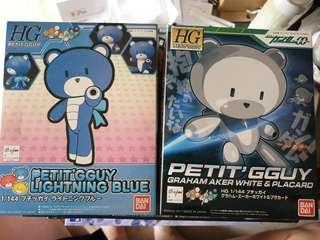 Petit G Guy white and blue from gundam gunpla series