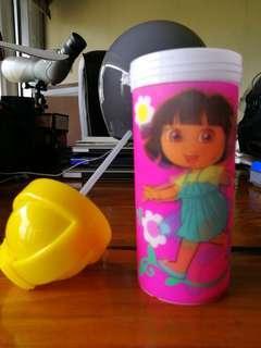 Dora Sippy Glass with Straw