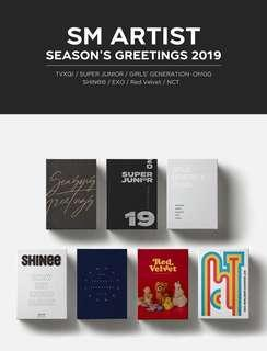 SM Artists Season's Greetings 2019 - EXO NCT RED VELVET SUPER JUNIOR GIRLS GENERATION SHINEE TVXQ