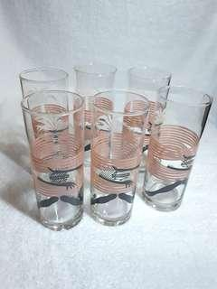 ☇Vintage slim glasses (6pcs)☇