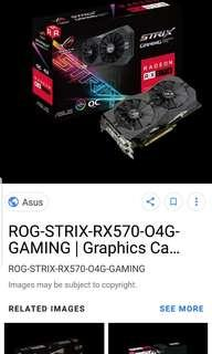 Asus RX570 Strix 4GB AMD GPU