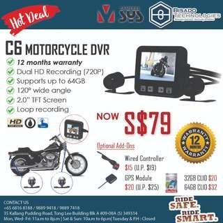 720P Front & Rear Motorcycle Camera