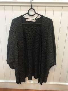 Plus Size Premium Zara Knit Gold Black Cardigan
