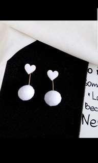 🚚 Korean minimalist fashion pom pom earringz