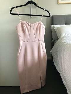 FOREVER NEW Pink Midi Dress