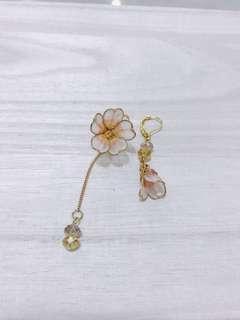 100% handmade resin flower earring