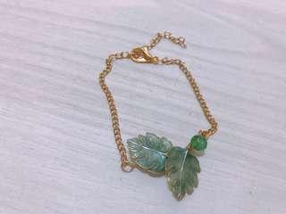 100% handmade tropical leave resin bracelet