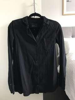ZARA Trafaluc Black Button Up