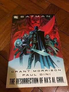 DC comics Batman The resurrection of Ras Al Ghul Grant Morrison