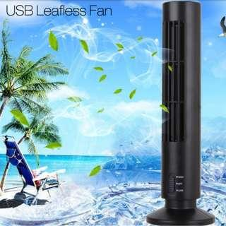 Portable USB Mini Leafless Tower Fan Desk Cooling Fan Computer Office Ventilator Air Conditioner