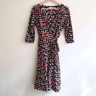 Boom Shankar Printed Wrap Dress
