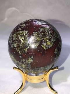 天然血石球42mm*龍血石*天然礦石*Dragon Blood Stone sphere