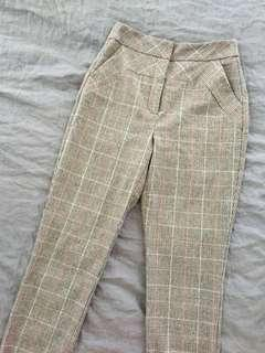 CUE Grey Tartan Pants