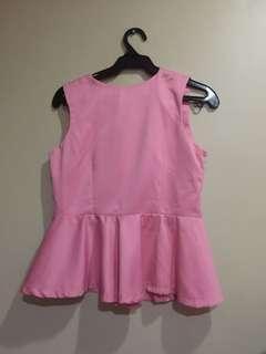 Sleeveless blouse Pink