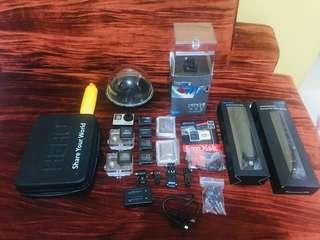 Gopro Hero 4 Silver Edition With Complete Accessories