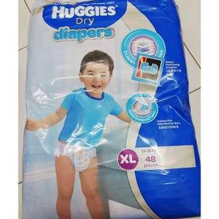 Huggies Dry Diapers (XL, 48 pieces)