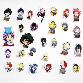 🚚 My Hero Academia and Fairy Tail Stickers