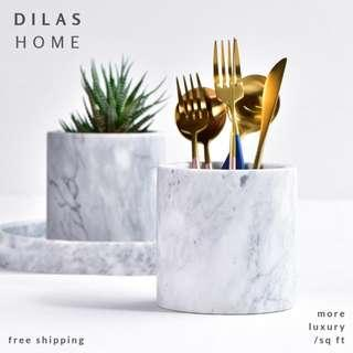 DILAS HOME | [FREE SHIPPING] Natural Marble Stone Plant Pot