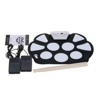 Portable Electronic Roll up Drum Pad Kit Silicon with Stick