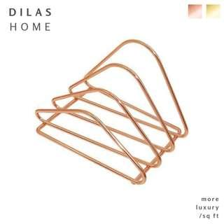 DILAS HOME | Metallic Rose Gold Letter Sorter Desk Organiser
