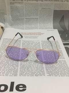 Purple Retro Aviator Sunnies