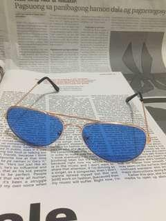 Blue Retro Aviator Sunnies