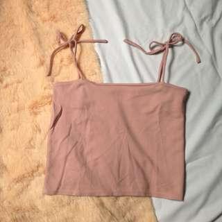 Straight neck string top