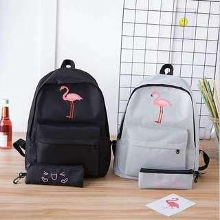 2 in 1 flamingo backpack