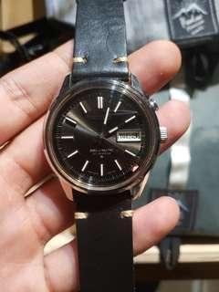 Vintage seiko 4006-7012 bell matic black black