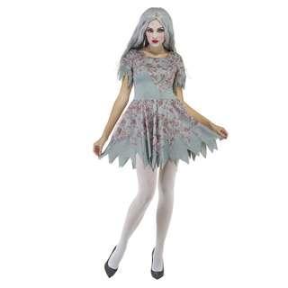 (Hot Sales) Bloody Zombie Dress Costume Halloween Fancy Dress Cosplay (Big Discount)
