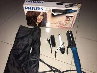Philips Multistyler (Catok lurus & Curly).