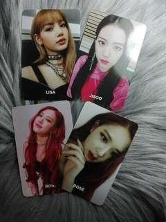 Blackpink Lisa Rose Jisoo Official Photocard