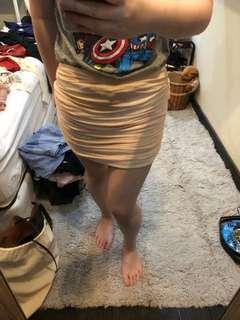 drapery skirt nude cream party skirt